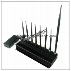 8 Channels Desktop Cellphone Signal Jammer WiFi Blocker 3G & 4G Phone Jammer