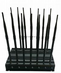 14 antennas signal blockers with 2G 3G4G GPS WIFI VHF UHF 4G 315 433 Lojack