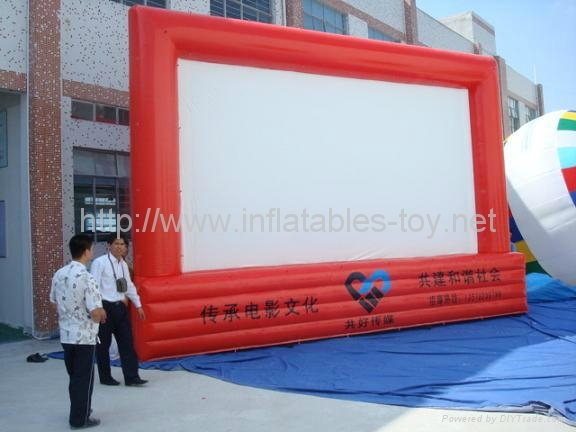 16ft x 9ft Outdoor Inflatable Movie Screen,Advertising Movie Screen