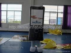 advertisement inflatable mobile phone replicas