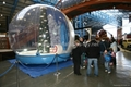 Inflatable snow globe for promotional