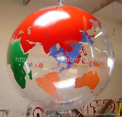 Inflatable Advertising Clear Balloon, Clear PVC Helium Sphere