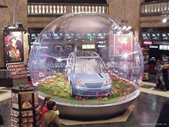 Clear Inflatable Dome for Live Show, Advertiing Snow Globe with Backdrop
