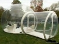 Inflatable dome tent for lawn camping with tunnel