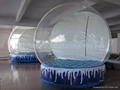 Clear Snow Globe with Air Mat for Chrismas Decoration 7