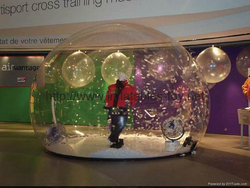 Transparent Life Size Snow Globe for Holiday Activities or  Brand Promotional 11