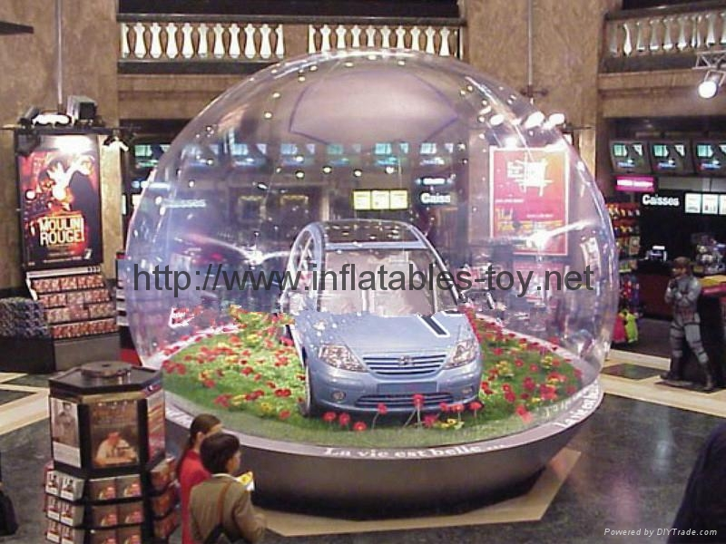 Transparent Life Size Snow Globe for Holiday Activities or  Brand Promotional 12