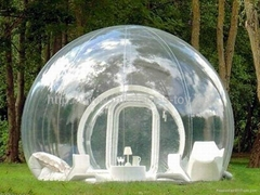 Half Transparent Inflatable Lawn Camping Dome Tent,Bubble Tent for Ourdoor Hotel