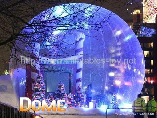 Human Size Snow Globe Clear Inflatable Dome for Live Show 14