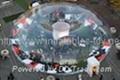 outdoor meeting room snow globe