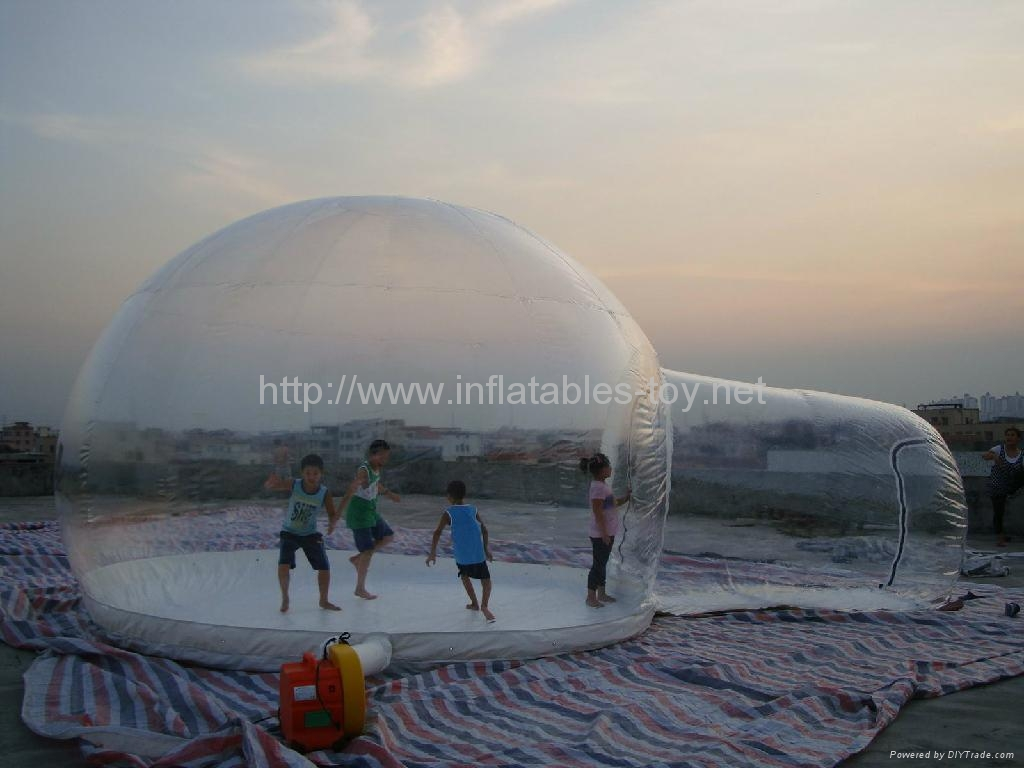 Giant Snow Globe for Camping Tent