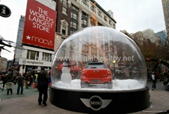 Christmas Snow Globe for Auto Display,Car Exbihition Shelter Dome