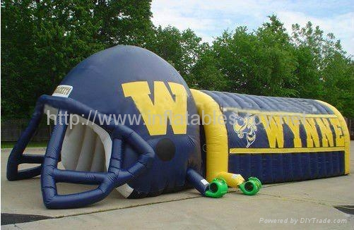 Inflatable Helmet Tunnel,Outdoor Sport Inflatable Tunnel,Large Inflatable Tunnel