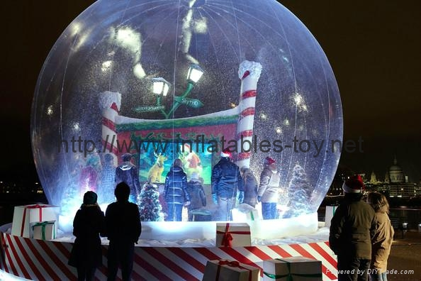 hoting sales inflatable snow globe for Christmas decorations