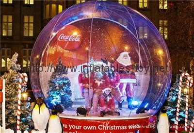 Christmas decorations Inflatable snow globe