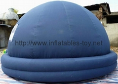 2 tube air lock door inflatable planetarium dome tent/inflatable dome tent