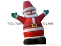 Outdoor giant santa inflatable Christmas holiday decoration 2