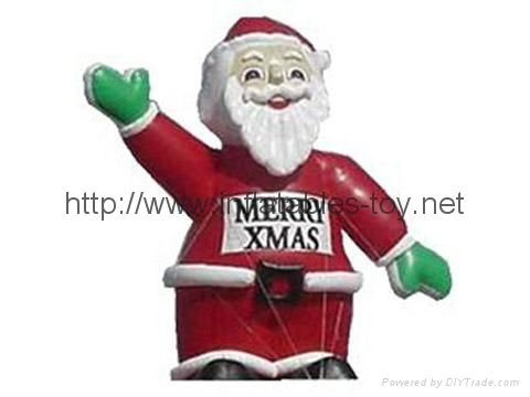 Outdoor giant santa inflatable Christmas holiday decoration 3