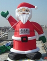 Outdoor giant santa inflatable Christmas holiday decoration 4