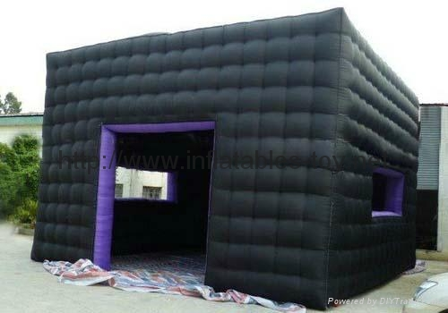 Black Cube Exhibition Booth, Infatable Booth Tent 1