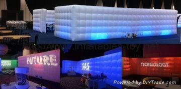 Inflatable Cube Wall Office in a Bag, Inflatable Wall, Air Wall Inflatables 2
