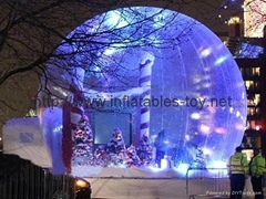 Inflatable Snow Globe with Light and Flake Snow,Inflatable Bubble Dome