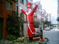 Outdoor Giant Santa Claus, Inflatable Christmas Holiday Decoration