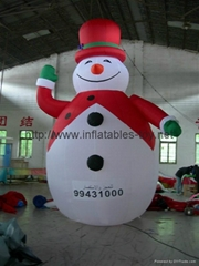 inflatable snow man,giant inflatable blow up snowman for outdoor decoration