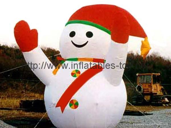 outdoor snow man advertising,inflatable snow man decoration,christmas snow man 2