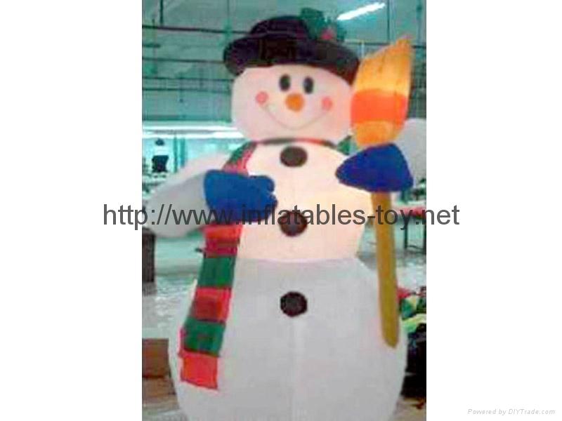 outdoor snow man advertising,inflatable snow man decoration,christmas snow man 5