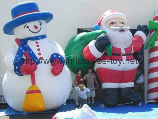 advertising inflatable snow man,inflatable christmas decorations 1