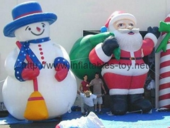 advertising inflatable snow man,inflatable christmas decorations