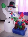 advertising inflatable snow man,inflatable christmas decorations 5