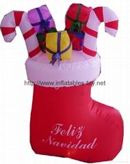 Christmas stockings,christmas decoration,inflatable christmas