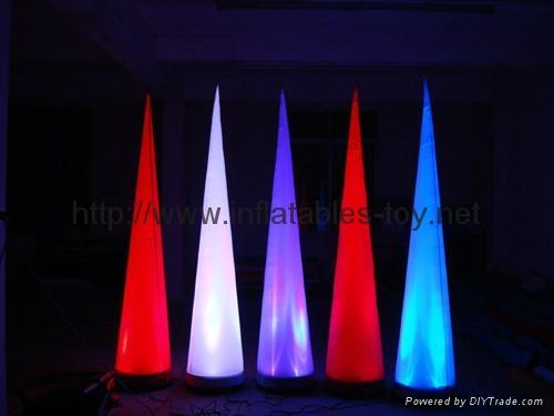 Led light Event Decor Inflatable Tusk,LED Cone Lighting Decorations 8