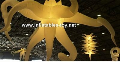 Fantasic Party Event Club Inflatable Lighting Decoration Star