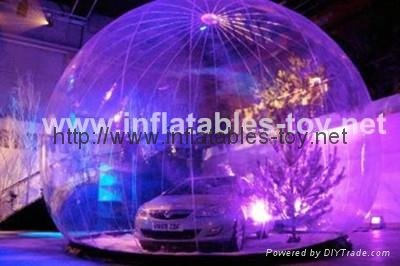 clear inflatable snow globe for car shelter advertising