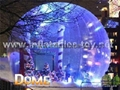 clear inflatable snow globe for christmas decoration