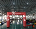 Inflatable advertising arch with digital