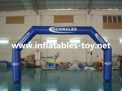Inflatable advertising arch with digital printing