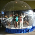 Big snow globe for living show