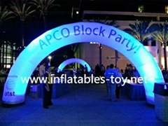 Electric run inflatable arches,neon run inflatable lighting arch road for race (Hot Product - 1*)