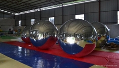 Giant Glossy PVC Inflatable Advertising Mirror Balloons,Customized Inflatable Mi