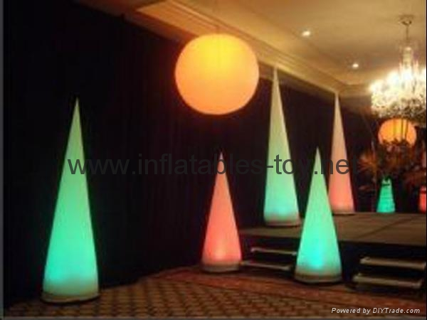 LED Lighting Event Decor Inflatable Pillar ,Stage Lighting Tubes 10
