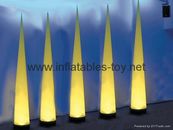 Led light Event Decor Inflatable Tusk,LED Cone Lighting Decorations 11