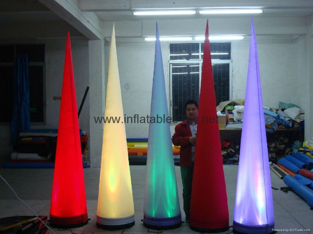 Led light Event Decor Inflatable Tusk,LED Cone Lighting Decorations 13