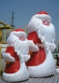 Outdoor giant santa inflatable Christmas holiday decoration 7