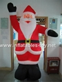 Outdoor giant santa inflatable Christmas holiday decoration 9