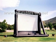 16ft x 9ft Outdoor Inflatable Movie Screen, Advertising Movie Screen