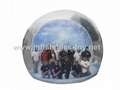 Transparent inflatable snow globe with flake snow for live show